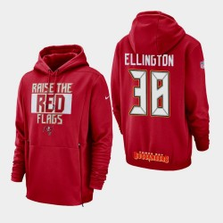 Tampa Bay Buccaneers 38 hommes Andre Ellington Sideline Lockup Sweat à capuche - Rouge