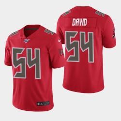 Tampa Bay Buccaneers 54 hommes Lavonte David 100ème saison couleur Rush Jersey - Rouge