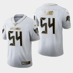 Buccaneers Lavonte David 100ème Saison Golden Edition Jersey - Blanc