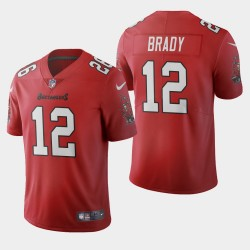 Tampa Bay Buccaneers 12 hommes Tom Brady 2020 Vapor Limited Maillot - Rouge