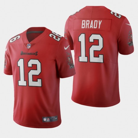 Tampa Bay Buccaneers 12 hommes Tom Brady 2020 Vapor Limited Jersey - Rouge