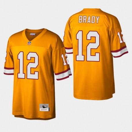 Buccaneers Tom Brady héritage Replica Jersey orange