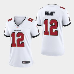 Bay Buccaneers de Tampa 12 femmes Tom Brady 2020 Jeu Maillot - Blanc