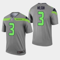 Seattle Seahawks Russell Wilson Inverted Legend Maillot - Gris