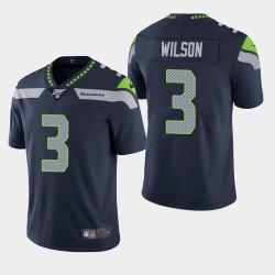 Seattle Seahawks Hommes 3 Russell Wilson 100e saison de vapeur Limited Jersey - Marine
