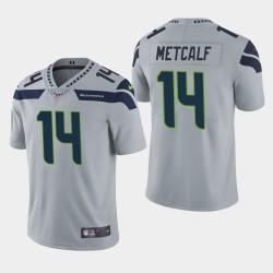 Seattle Seahawks Hommes 14 D.K. Metcalf 100e saison de vapeur Limited Jersey - Gris