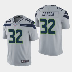 Seattle Seahawks Hommes 32 Chris Carson 100ème saison de vapeur Limited Jersey - Gris