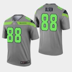Seattle Seahawks Greg Olsen Inverted Legend Jersey - Gris