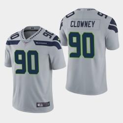 Seattle Seahawks 90 hommes Jadeveon Clowney 100ème saison Vapor Limited Jersey - Gris