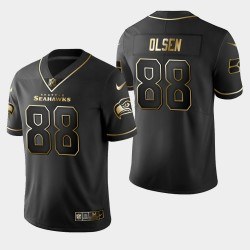 Seattle Seahawks 88 hommes Greg Olsen Golden Edition Jersey limitée de vapeur - Noir