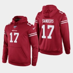 San Francisco 49ers 17 hommes Emmanuel Sanders 100ème saison Jeu Hoodie - Scarlet