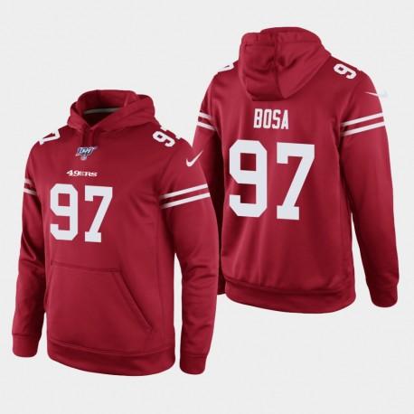 San Francisco 49ers 97 hommes Nick Bosa 100ème saison jeu Hoodie - Scarlet