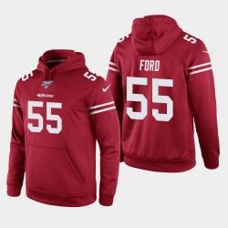 49ers Dee Ford 100e saison jeu Hoodie - Scarlet
