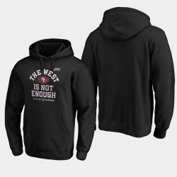 Hommes San Francisco 49ers 2019 NFC Couverture Champions Division Ouest Deux Sweat à capuche - Noir