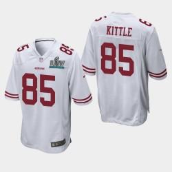 49ers George Kittle Super Bowl LIV jeu Jersey - Blanc