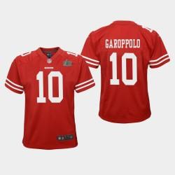 Jeunesse San Francisco 49ers 10 Jimmy Garoppolo Super Bowl LIV jeu Jersey - Scarlet