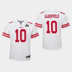 de la jeunesse Jimmy Garoppolo Super Bowl LIV Jersey Jeu - Blanc
