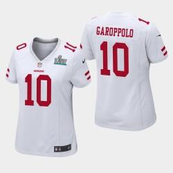 San Francisco 49ers 10 femmes Jimmy Garoppolo Super Bowl LIV jeu Jersey - Blanc