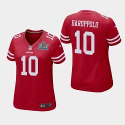 10 Jimmy Garoppolo Femmes San Francisco 49ers Super Bowl LIV jeu Jersey - Scarlet