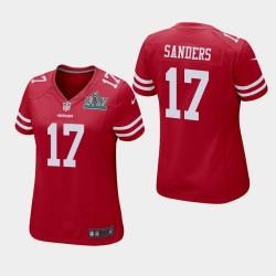 17 Emmanuel Sanders Femmes San Francisco 49ers Super Bowl LIV jeu Maillot - Scarlet