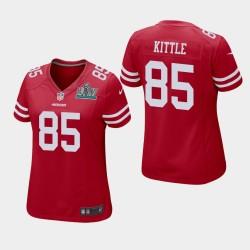 Femmes San Francisco 49ers 85 George Kittle Super Bowl LIV jeu Jersey - Scarlet