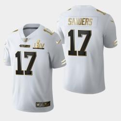 49ers Emmanuel Sanders Super Bowl LIV Golden Edition Jersey - Blanc