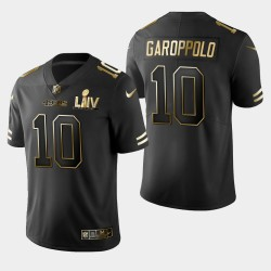 49ers Jimmy Garoppolo Super Bowl LIV Golden Edition Jersey - Noir