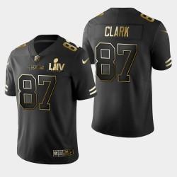 San Francisco 49ers hommes 87 Dwight Clark Super Bowl LIV Golden Edition Jersey - Noir