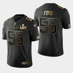 San Francisco 49ers 55 hommes Dee Ford Super Bowl LIV Golden Edition Jersey - Noir