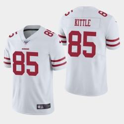 San Francisco 49ers 85 hommes George Kittle 100ème saison de vapeur Limited Jersey - Blanc