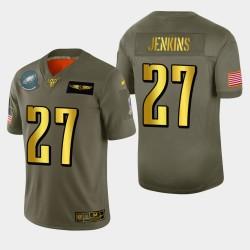 Eagles de Philadelphie hommes 27 Malcolm Jenkins 2019 Salut au service Metallic NFL Jersey 100