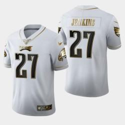 Eagles de Philadelphie Hommes 27 Malcolm Jenkins 100ème Saison Golden Edition Jersey - Blanc