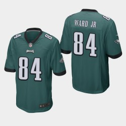 Eagles de Philadelphie hommes 84 Greg Ward Jr. jeu Jersey - minuit vert
