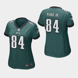Eagles de Philadelphie 84 femmes Greg Ward Jr. jeu Jersey - minuit vert