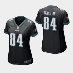 Eagles de Philadelphie 84 femmes Greg Ward Jr. jeu Jersey - Noir