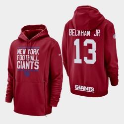 New-York Giants 13 hommes Odell Beckham Jr. Sideline Lockup Sweat à capuche - Rouge