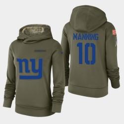 Giants Eli Manning 2018 Salut à Service Sweat à capuche - Olive
