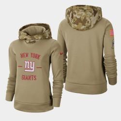 Les femmes de New York Giants Khaki 2019 Salut au service Therma Pull à capuche