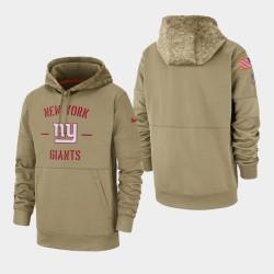 New York Giants Tan 2019 Salut au service Sideline Therma Pull à capuche pour homme