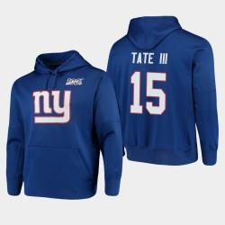 New York Giants 15 d'or Tate 100ème Saison Logo primaire Sweat à capuche pour homme - royal