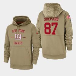 New-York Giants 87 hommes Sterling Shepard 2019 Salut au service Sideline Therma Hoodie - Tan