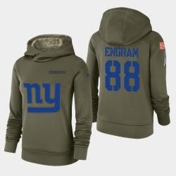 Les femmes de New York Giants 88 Evan Engram 2018 Salut à Service Performance Sweat à capuche - Olive