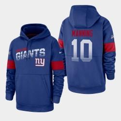 New York Giants Eli Manning 10 100e saison Sideline équipe Logo Sweat à capuche pour homme - royal