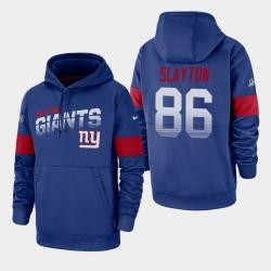 New York Giants 86 Darius Slayton 100 e saison Sideline équipe Logo Sweat à capuche pour homme - royal