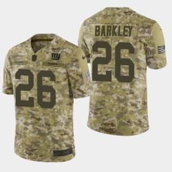 Hommes Giants de New York 26 Saquon Barkley 2018 Salut à Service Limited Jersey - Camo