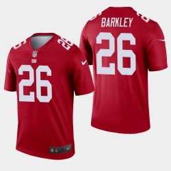New York Giants 26 Saquon Barkley Inverted Legend Jersey Hommes - Rouge
