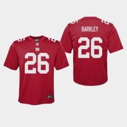 Jeunesse New York Giants 26 Saquon Barkley Inversé Jeu Jersey - Rouge