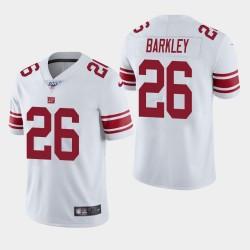 New York Giants 26 Saquon Barkley 100ème saison de vapeur Limited Jersey Hommes - Blanc
