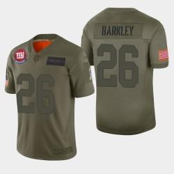 New-York Giants 26 hommes Saquon Barkley 2019 Salut au service Camo Jersey limitée