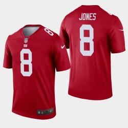 New York Giants 8 Daniel Jones Inverted Legend Jersey Hommes - Rouge